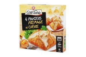 Rappel de 4 paniers fromage de chèvre surgelés de la marque Côté Table