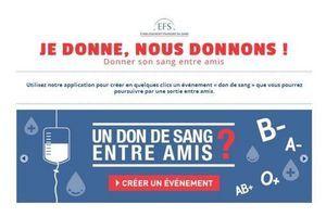 Donner son sang entre amis : l'appli Facebook de l'EFS