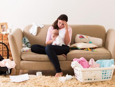 Les mamans débordées après la naissance de bébé