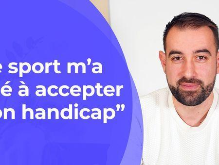 """Mathieu Thomas """"Le sport m'a aidé à accepter mon handicap"""""""