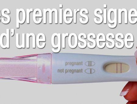 Les premiers signes d'une grossesse