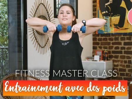 Entrainement avec des haltères  (20 min)– Fitness Master Class
