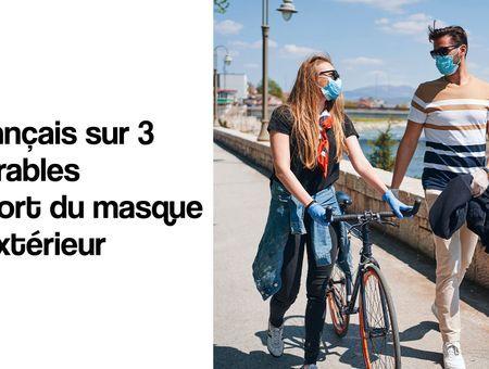 2 Français sur 3 favorables au port du masque en extérieur
