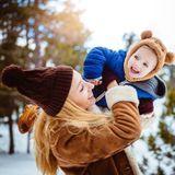 Bébé aux sports d'hiver