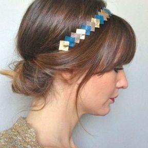 Le chignon bas avec un headband