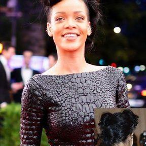 Le chignon rock de Rihanna