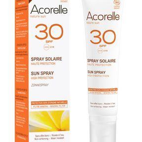 Spray solaire SPF 30 d'Acorelle