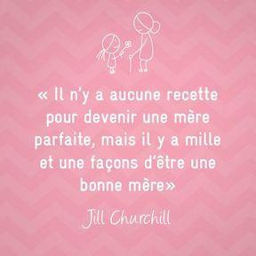 Citation sur la maternité de Jill Churchill