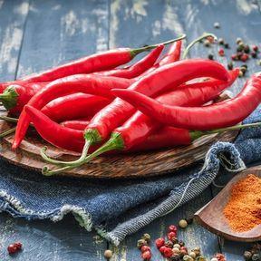 Le piment chili en poudre