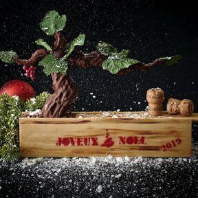 """Bûche duPeninsula Paris- Chef Dominique Costa: """"Vigne enchantée"""""""