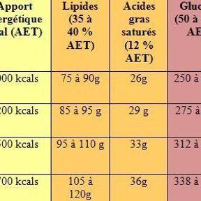 Matières grasses, sucres… Tous nos besoins quotidiens