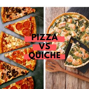 Calories : Pizza vs quiche