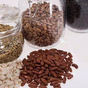 Vitamines B1 et B3 dans les légumes secs