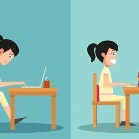 La bonne posture pour travailler devant un ordinateur