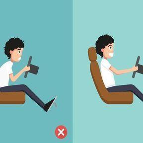 La bonne posture quand on est au volant
